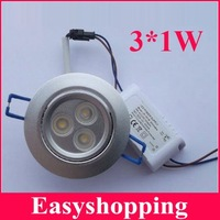 Free shippping AC85-265V  LED ceiling light 5pcs/lot led ceiling downlight,3*1W downlight 270LM