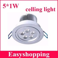 4pcs/lot led ceiling downlight AC85-265V 450LM LED ceiling light ,5*1W downlight free shipping