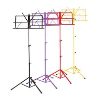 Free shipping colourful max hight 135cm folding music stand packed with waterproof  bag