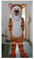 Mascot Costume lovely Tigger Cartoon custom-made free shipping,Tigger Adult Size Mascot Costume Halloween Fancy Dress