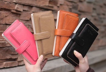 Wholesale Free Shipping/Women`s sweet slim long style Wallets /Women`s Coin Purses/wallet/purse/card bag 4color K2627