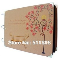 FREE SHIPPING manual gift DIY stick type photo albums nine patterns for choice
