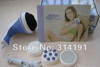 Free shiping 1pcs 3 head Magic Wand Body Massager Massage,Handheld relax spin tone1786 US Plug 100-120V 2574 220-250V(EU Plug