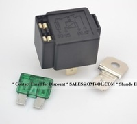 top grade quality 4 pin 30A auto relay with fuse, coil voltage 12VDC