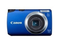 "CANON Camera  A3300 16MP with 3"" screen and 28mm wide-angle lens and 5x zoom canon Digital Camera+8GB SD card blue"