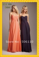 Cheap Sweetheart Floor Length Chiffon Bridesmaid dress
