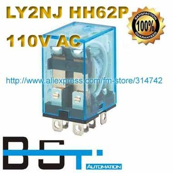 Free Shipping for General Purpose LY2NJ AC 110V 10A Power Relay ,8 Pins with LED indicator lamp with Silver Alloy Contacts