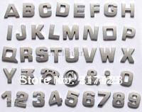 400pcs/Lot  Whlosale Cheap Chrome Letter and figure stickers 3d Decal on Car bumper stickers 2.8*2.5cm Cheap car decals