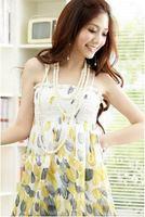 Free shipping red yellow purple Drop shipping fashion dress Bohemia flavor chiffon maxi dress