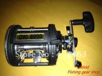Fishing supplies Trolling Fishing Reels   OWL 8200 AL 2 BB  Right Hand Reel ALuminum Spool Gear Ratio: 4.5:1
