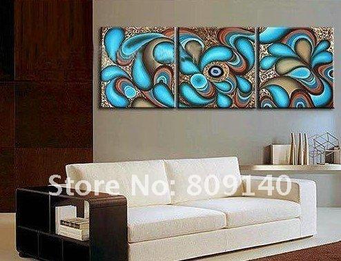 Blue Modern Oil Paintings Wallart Modern Abstract Art