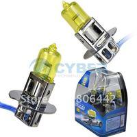 H3 Super Yellow 3K 100W Car Fog Bulb Xenon Gas Halogen 12V Headlight Lamp Light  Free Shipping
