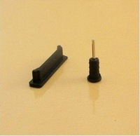 Dock Cover for iPhone 4 4s dust plug 10000pcs earphone jack plug+ 10000pcs charger socket=total 20000pcs free Shipping
