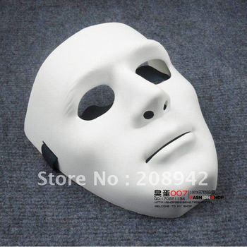 mejor venta máscara máscara blanca danza jabbawockeez fantasma paso bailar hip-hop máscara, descuento