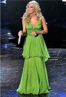 New Arrival ! Free Shipping!Shoulder Straps V-Neck Beaded Multi-Layers Chiffon Custom-Made 2012 Evening Dress Celebrity dress