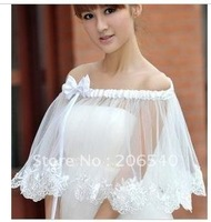 The bride wedding summer bask in marriage gauze veil bud silk cloak accessories