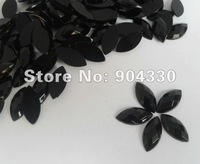Free Shipping! Black 500pcs/bag 7*15MM Horse Eye Flatback Faceted Acrylic Rhinestone Scrapbooking Beads DIY Craft Decorations