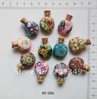 Free Shipping soft clay perfumeBottle Mini Amber Bottle Gift Glass Bottle  fashion charms sold per 100pcs