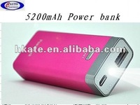 5200mAh external Portable mobile phone universal Power Bank charger with Emergency LED ATP08