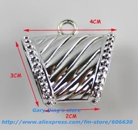 Galvanized color  CCB Charms Fashion Jewelry Scarf Clasp Jewelry Accessories (DSP-011