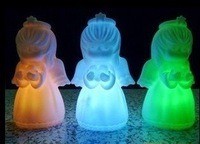 Best selling! EMS Free shipping! 100 pcs/lot Christmas presents-colorful angel LED Night light. Retail&Wholesale