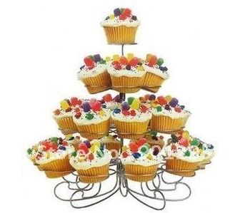 wholesale- free shipping 4 tier metal cupcake stand / holder/ Cupcake Stand 23 Count Standard