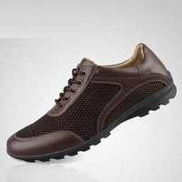 Free shipping,Summer, leather, everyday, casual shoes, large size, men's shoes, mesh, breathable, sandals