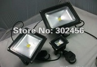 low price free shipping 6pcs/lot 50w led sensor floodlight /50w led flood lamp/led outdoor wall light