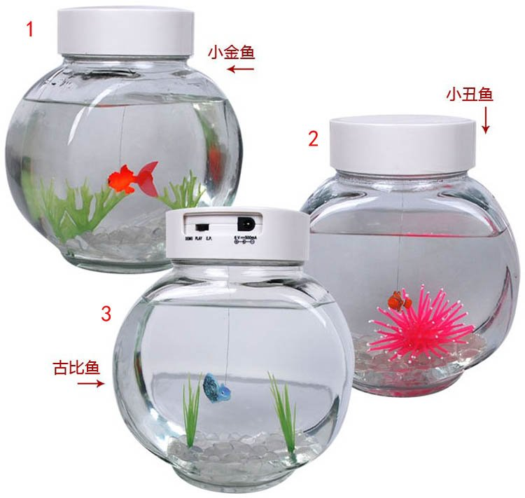 New!2012 Novelty Toy Amazing Fish/Electronic Pet Goldfish For Children /Mini Hi-tech Innovative Toy(China (Mainland))