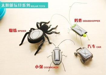 4 styles Robot Educational SOLAR Solar power Car/Spider/Grasshopper/Cockroach kit RACER car