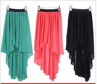 Huge savings cheap Hot Summer Special chiffon long skirt Asymmetric skirt Large Size Beach Skirt six colors 12044#