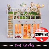 DIY cabin 2012 popular DIY gift wooden house model diy house model free shipping EMS