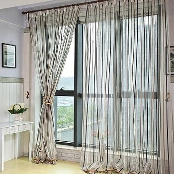 100%polyester chenille curtain with strip