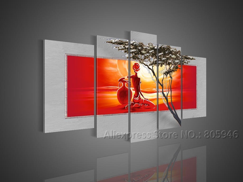 Hand Painting Designs On Walls : --Hand-painted-Large-Art-Modern-Wall-Decor-Landscape-Oil-Painting ...