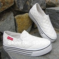 hot sale free shipping sneakers slugged bottom canvas shoes heighten shoes 4colors for choose 35-39size