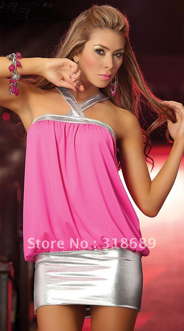 SLEEVELESS clubwear dress Elastic Mix Styles Lingerie Sexy dresses Nightclub dresses women's dress club wear dersses GTFG(China (Mainland))