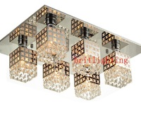 Modern crystal ceiling lamp for living room lamp rectangle lamp crystal ceiling lights for bedroom rectangle living room lights