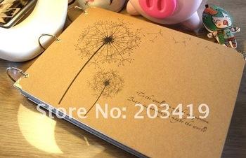 dandelion vintage Antique DIY PHOTO ALBUM Scrapbook Paper Crafts for baby wedding picture photograph sticker CN post
