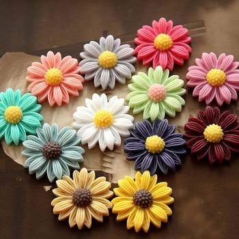 supernova sales Free shipping 21 mm 15 Colors Resin Cabochon African Chrysanthemum for Jewelry Decoration Wholesale 100pcs/lot