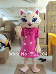 2012 Cat sister Mascot Costumes Cartoon Costumes Halloween fancy dress Wholesale & Factory & Supplier(China (Mainland))