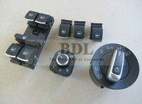 Original Brushed Auto Headlight switch+Side mirror switch+Master window switch for VW CC Tiguan Passat B6 Golf 5 6 Jetta MK5 MK6