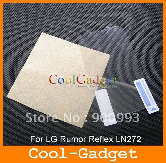 For Rumor Reflex Screen Guard, Screen Protector protection film for LG Rumor Reflex LN272 No retail package 1000pcs MSP448(China (Mainland))
