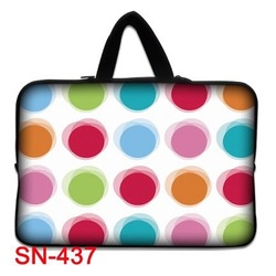 "Colorfull Dots 17"" 17.3"" 17.4"" Inch Laptop Bag Pouch Sleeve Cover Notebook Case Stylish Design(China (Mainland))"