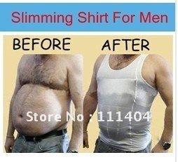 Free shipping SLIM N LIFT MEN MEN'S SLIMMING VEST/SHIRT-BODY SHAPERS