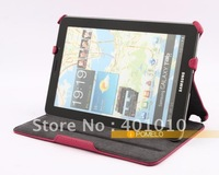 Leather Cover Case for Samsung Galaxy Tab 7.7 P6810 P6800 free shipping by air mail ED615