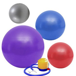 Yoga Gym Fitness Exercise Inflatable Ball 65cm + Pump(China (Mainland))