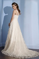 Free Shipping!Shoulder Straps Lace Princess dr dre Court Train Custom-Made Wedding Dresses 2013