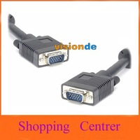 5M MALE TO MALE SVGA/VGA PC MONITOR TO TFT CABLE LEAD free shipping