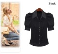Free shipping 2013 new fashion women chiffon shirt short sleeve blouse lady summer dress OL style tops