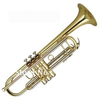 best music Very Nice Bb Trumpet Gold Horn Monel Valves New W/Case  in stock